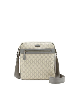 Gucci GG Supreme Flight Bag, Gray
