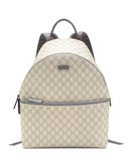 Gucci GG Supreme Canvas Backpack, Gray