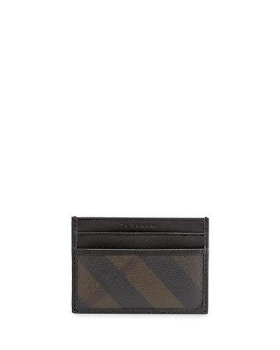 Burberry Checked ID Cardholder, Smoked
