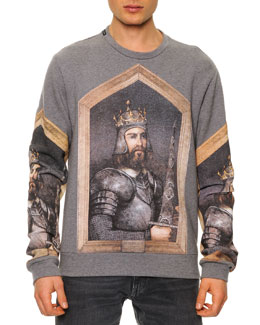 Dolce & Gabbana Long-Sleeve King Federico Print Sweatshirt