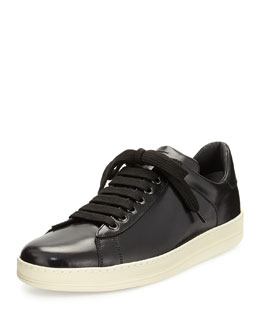 Tom Ford Russell Low-Top Calfskin Sneaker, Black