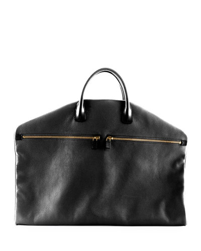 Buckle Soft Garment Bag, Black