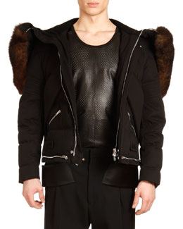 Givenchy Zip-Out Jacket with Fur Trim