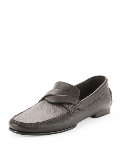 Grant Twist Driver Leather Loafer, Brown
