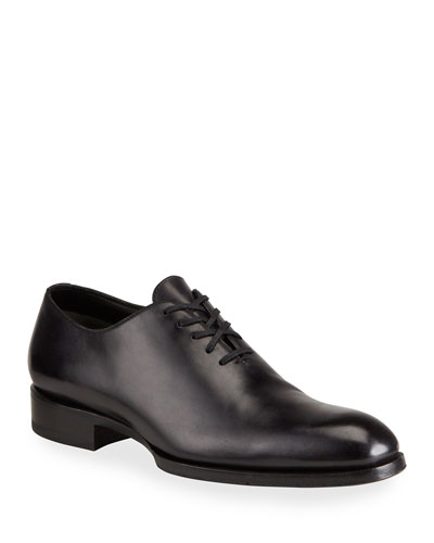 Edward One-Piece Lace-Up TT Leather Shoe