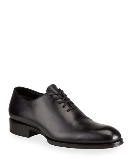 TOM FORD Edward One-Piece Lace-Up TT Leather Shoe
