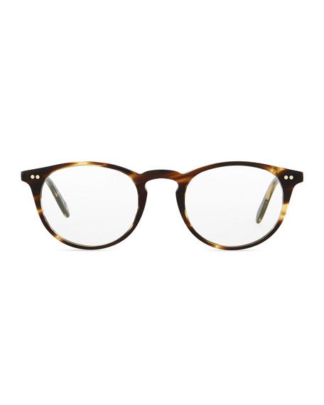 Riley-R 47 Acetate Fashion Eyeglasses, Brown