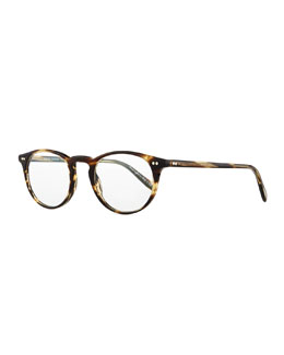 Oliver Peoples Riley-R 47 Acetate Fashion Eyeglasses, Brown
