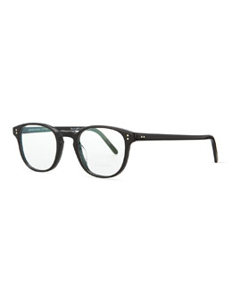 Oliver Peoples Fairmont 47 Acetate Fashion Eyeglass Frames, Black