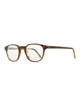Oliver Peoples Fairmont 47 Acetate Fashion Eyeglass Frames, Brown