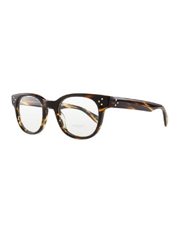 Oliver Peoples Afton Rounded Men's Fashion Glasses, Brown
