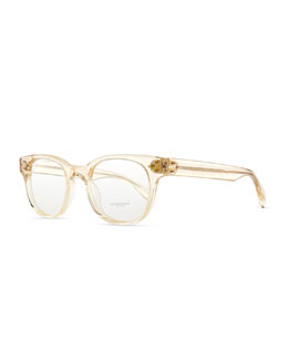 Oliver Peoples Afton Clear Men's Fashion Glasses, Buff