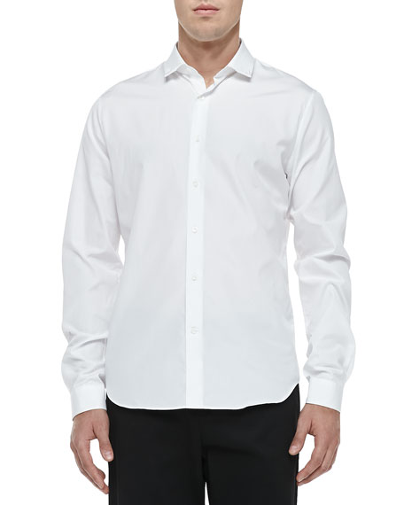 Valentino Stud-Collar Button-Down Shirt, White