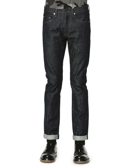 Valentino Dark Clean-Wash Denim Jeans