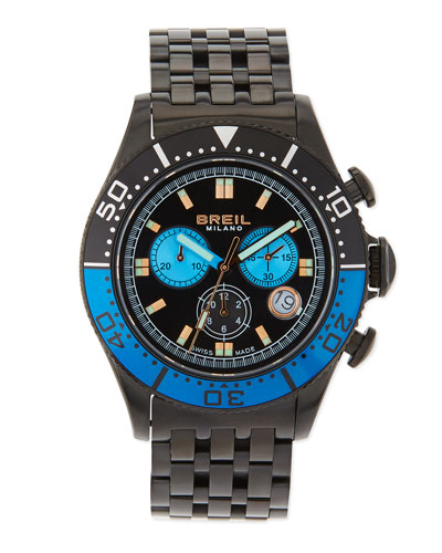 Breil Manta Chronograph Watch, Black