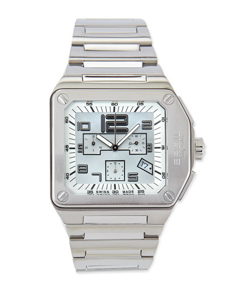 Logo Chronograph Stainless Steel Watch