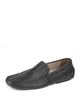 Andrew Marc Empire Leather Loafer, Black