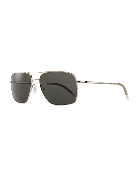 Oliver Peoples Clifton Polarized Sunglasses, Silver