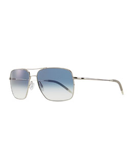 Oliver Peoples Clifton Photochromic Sunglasses, Silver