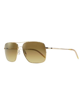 Oliver Peoples Clifton Photochromic Sunglasses, Gold