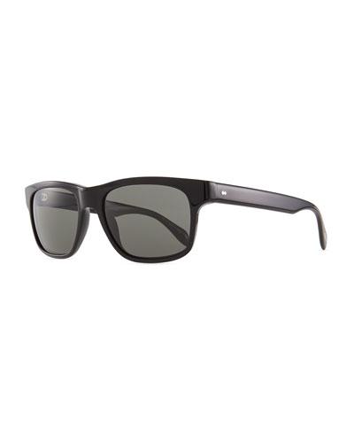 Oliver Peoples Becket Polarized Sunglasses, Black