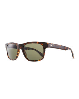 Oliver Peoples Becket Polarized Sunglasses, Sable Tortoise