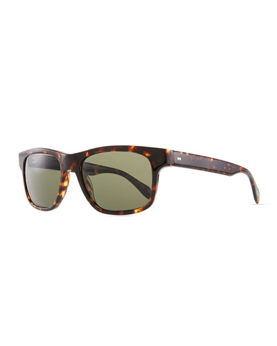 Oliver Peoples Becket Polarized Sunglasses, Sable Tortoise
