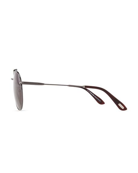 Colin Round Aviator Sunglasses, Gunmetal