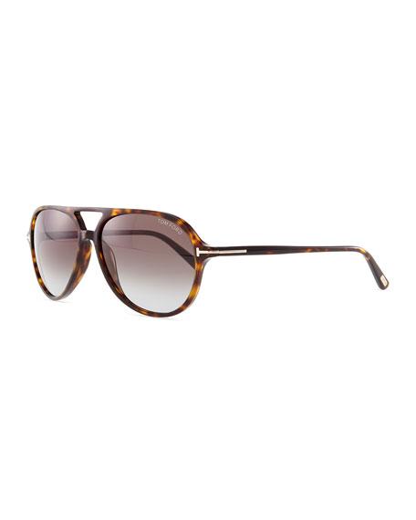 Jared Acetate Aviator Sunglasses, Tortoise