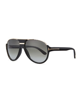 Tom Ford Dimitry Aviator Sunglasses, Black