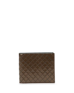Bottega Veneta Scolpito Leather Wallet, Brown