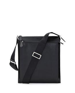 Elite Men's Small Messenger Bag, Black