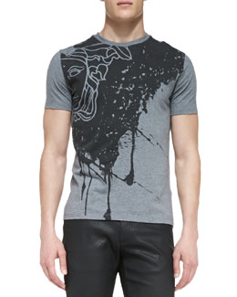 Versace Collection Medusa-Print Short-Sleeve Jersey Tee