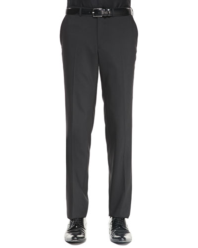 Versace Collection Tuxedo Trousers, Black