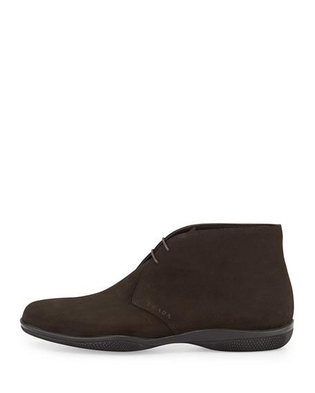 prada suede chukka boot brown moro