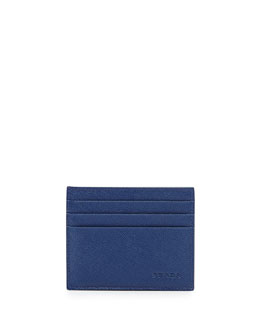 Prada Saffiano Card Case, Blue