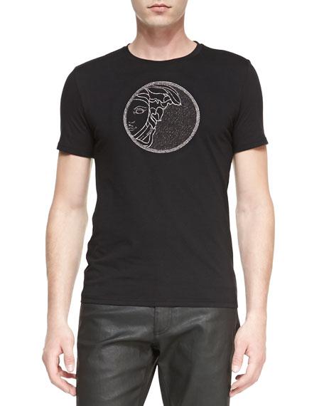 Medusa-Emblem Jersey Tee, Black