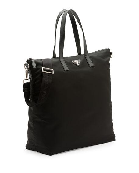 68f9d6c89a ... closeout prada tote prada tote prada mens nylon zip tote bag with strap  black neiman marcus