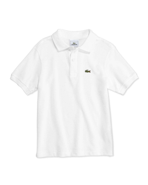 50dd6234d lacoste Boys' Classic Pique Polo, White, 2T-12 | Neiman Marcus