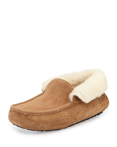 Grantt Men's Suede Slipper, Chestnut