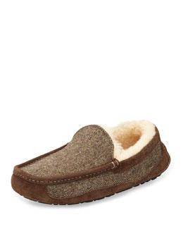 Ascot Tweed Slip-On Loafer, Dark Brown