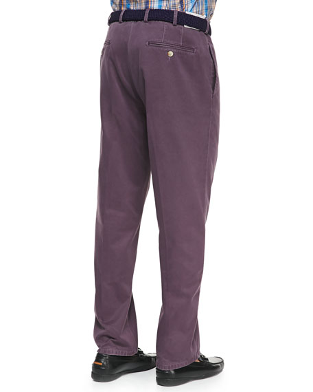 Raleigh Washed-Twill Pants, Reign