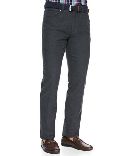 Twill Five-Pocket Trousers, Charcoal