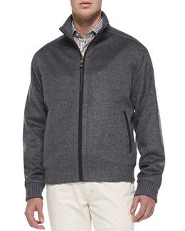 Peter Millar Merino-Wool Patrick Jacket, Charcoal