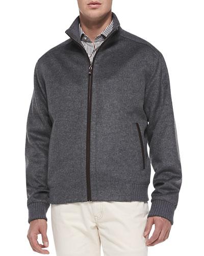Merino-Wool Patrick Jacket, Charcoal