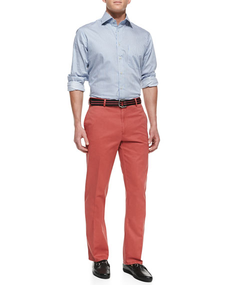 Raleigh Washed-Twill Pants, Serrano