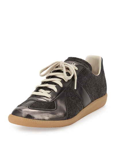 Replica Felt Low-Top Sneaker, Gray
