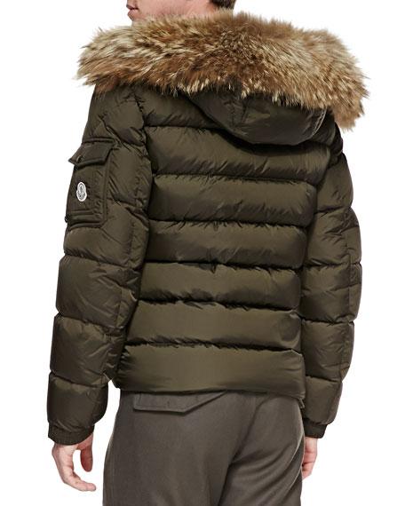 moncler byron fur-trim hood puffer