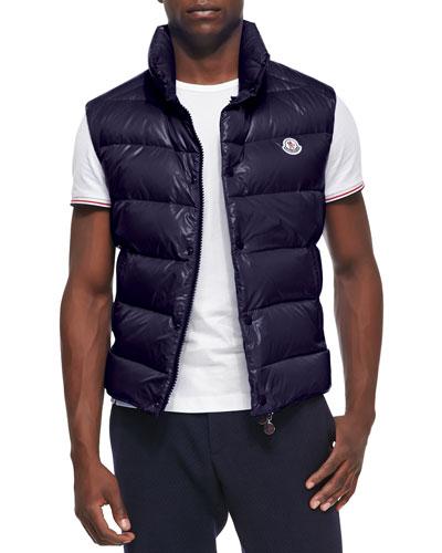 Moncler Tib Puffer Vest, Dark Navy