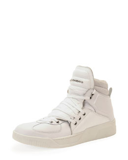 Dolce & Gabbana Benelux High-Top Sneaker, White